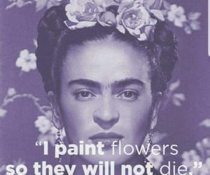 art, Frida, and flowers image
