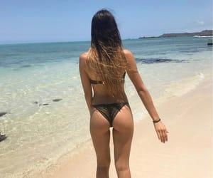 beach, bikini, and mauritius image