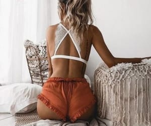bralette, clothes, and shorts image