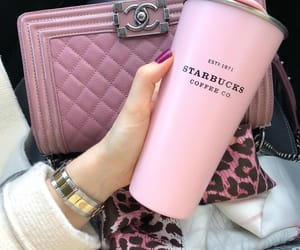 chanel, coffee, and pink image