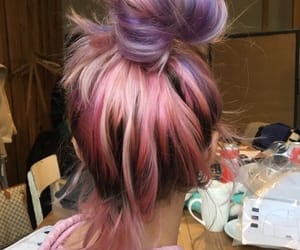 aesthetic, bun, and girly image
