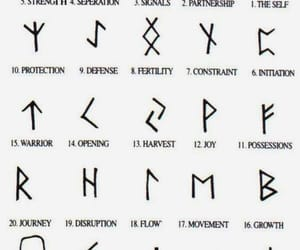 tattoo, symbol, and runes image