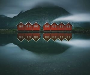 nature, norway, and red image