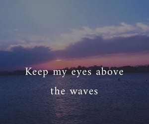quotes, waves, and sky image