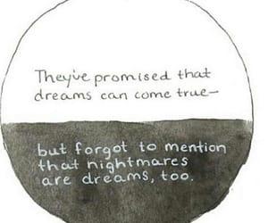 dreams, sad, and nightmares image