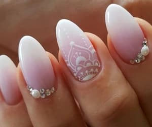 nails, white, and mandala image