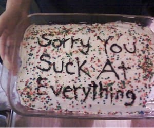 cake, sorry, and suck image