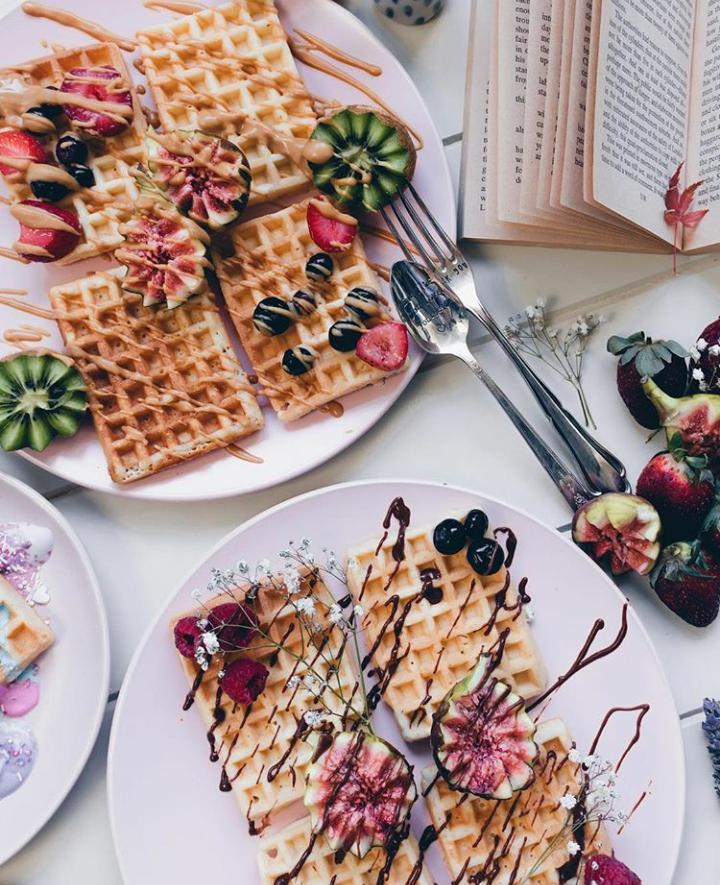 food, tumblr, and waffles image