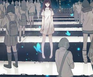 anime, anime girl, and alone image