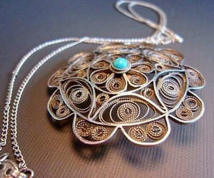 etsy, medallion, and pendant necklace image