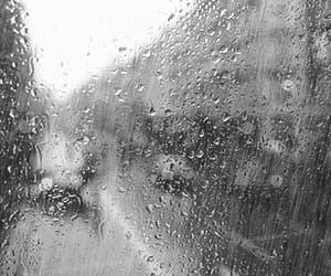 rain, gif, and black and white image