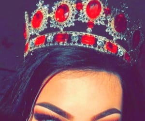 girl, crown, and makeup image