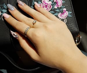 mickey mouse, nails, and rings image
