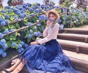 girl, blue, and fashion image