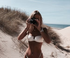 beach, bikini, and girl image