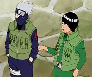 gif, kakashi, and guy sensei image