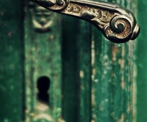 door, green, and vintage image