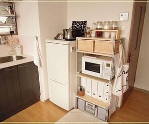 apartment, kitchen, and organized image