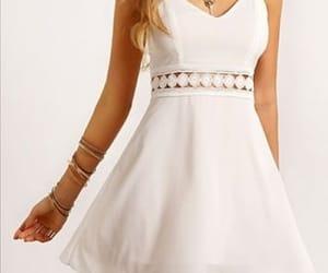 fashion, robe, and white image