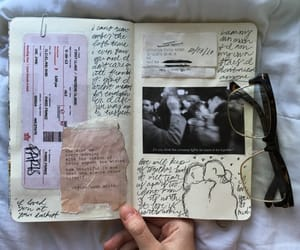 art, book, and diary image