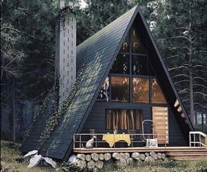 architecture, black, and cabin image
