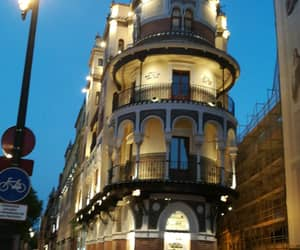 architecture, night, and seville image