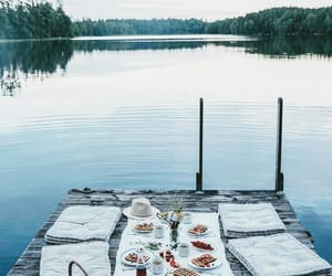 breakfast, date, and dock image