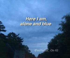 alone, am, and blue image