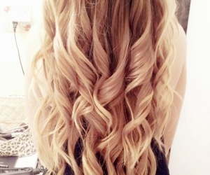 :), blonde, and curly image