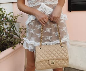 chanel, chanel bag, and lace image