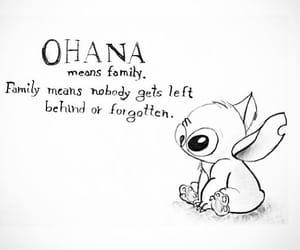 family, ohana, and stitch image