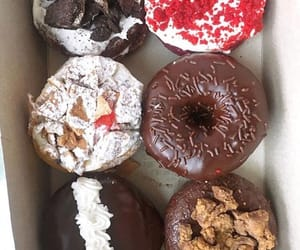 chocolate, delicious, and doughnut image