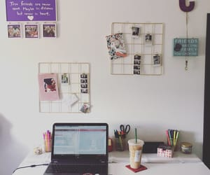 desk, home, and school image