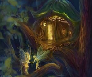 fairy, tree, and magical image