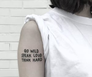 ink, quotes, and inked image