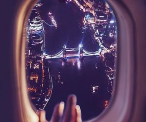 london, travel, and fly image