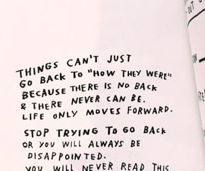 past, quote, and moving on image
