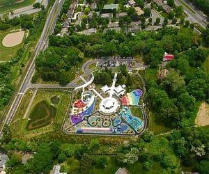 carousel, maze, and playground image