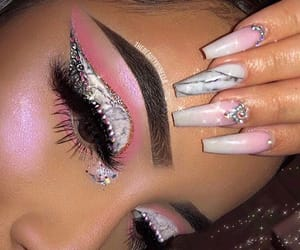 artist, makeup, and nails image