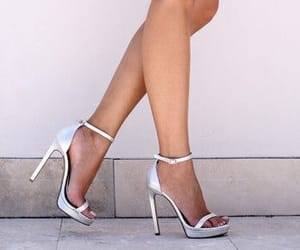 fancy, heels, and silver image