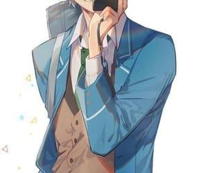 anime boy, camera, and ensemble stars image