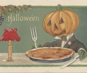 greeting card, pie, and Halloween image