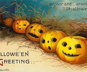 greeting card, Halloween, and jackolantern image