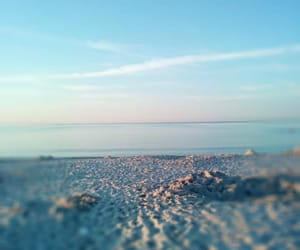 beach, horizon, and ocean image