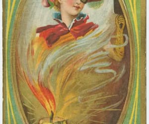 fortune telling, Halloween, and golden age image