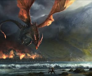 dragon and the hobbit image