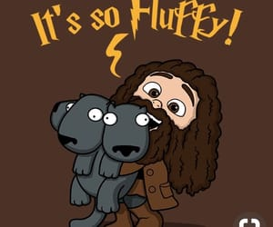 fluffy, harry potter, and dog image