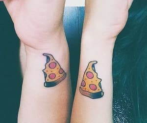 pizza, tattoo, and bff image