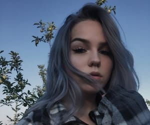 aesthetic, grunge, and silver hair image