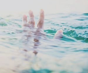 hand, ocean, and summer image